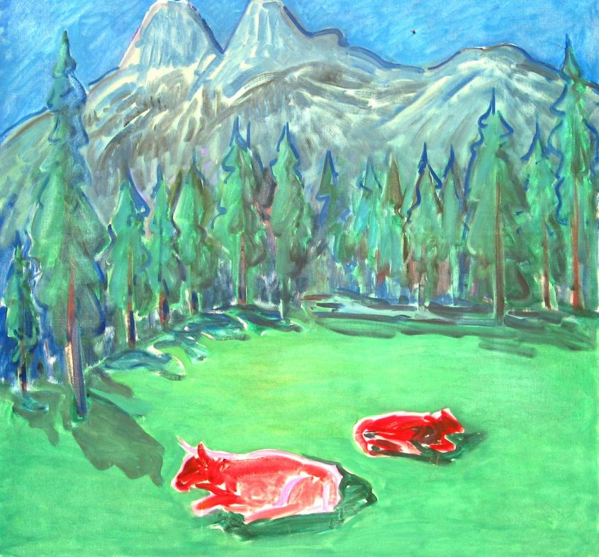 Sonderausstell. im Robbi Museum - T. Pedretti - Kühe im Mondlicht