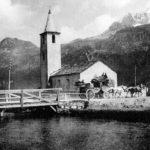 092 - Postkutsche vor San Lurench in Sils Baselgia